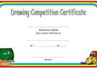 Drawing Competition Certificate Template 6
