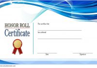 Editable Honor Roll Certificate Template 2