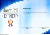 Editable Honor Roll Certificate Template 4