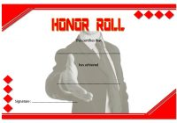 Editable Honor Roll Certificate Template 5
