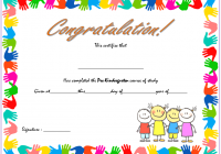 Editable Pre-K Graduation Certificate Template 1