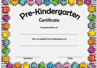 Editable Pre-K Graduation Certificate Template 4