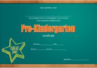 Editable Pre-K Graduation Certificate Template 8