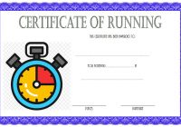 Editable Running Certificate 8