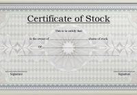 Editable Stock Certificate Template 3