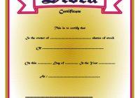 Editable Stock Certificate Template 4