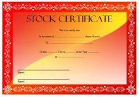 Editable Stock Certificate Template 5