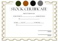 Editable Stock Certificate Template 6