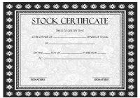 Editable Stock Certificate Template 8