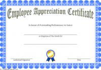 Employee Appreciation Certificate Template 2