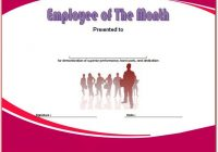 Employee of The Month Certificate Template 1