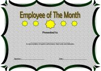 Employee of The Month Certificate Template 2