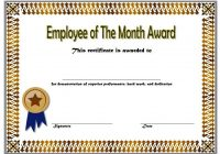 Employee of The Month Certificate Template 5