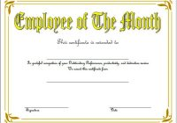 Employee of The Month Certificate Template 7