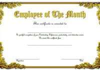 Employee of The Month Certificate Template 8