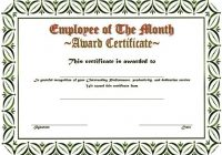 Employee of The Month Certificate Template 9