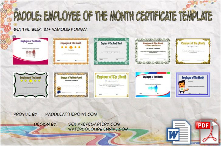 Permalink to Employee of The Month Certificate Templates – 10+ Best Ideas