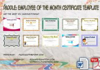 Employee of The Month Certificate Templates by Paddle