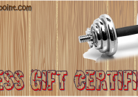 FREE Fitness Gift Voucher Template by Paddle