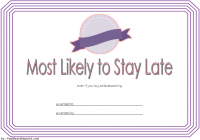 FREE Most Likely to Certificate Template 3