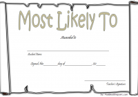 FREE Most Likely to Certificate Template 6