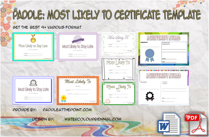 Permalink to FREE Most Likely to Certificate Templates: 9+ New Choices