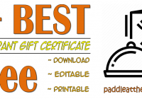 FREE Restaurant Gift Certificate Template Word Format by Paddle