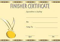 Finisher Certificate 3