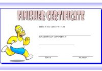 Finisher Certificate 6