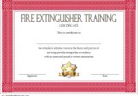 Fire Extinguisher Certificate Template 1