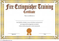 Fire Extinguisher Certificate Template 2
