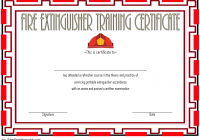 Fire Extinguisher Certificate Template 3