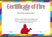 Fire Extinguisher Certificate Template 4