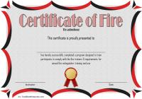 Fire Extinguisher Certificate Template 5