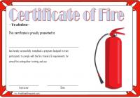 Fire Extinguisher Certificate Template 6