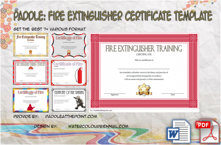 Permalink to Fire Extinguisher Training Certificate – 7+ Latest Designs