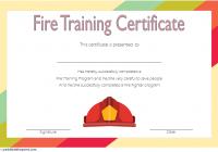 Firefighter Training Certificate Template 1