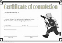 Firefighter Training Certificate Template 10