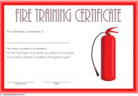Firefighter Training Certificate Template 2