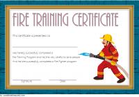 Firefighter Training Certificate Template 3