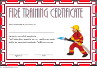 Firefighter Training Certificate Template 4