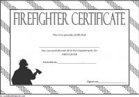 Firefighter Training Certificate Template 5