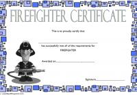 Firefighter Training Certificate Template 6