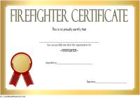 Firefighter Training Certificate Template 7