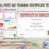 First Aid Certificate Template Free – 7+ Freshest Designs