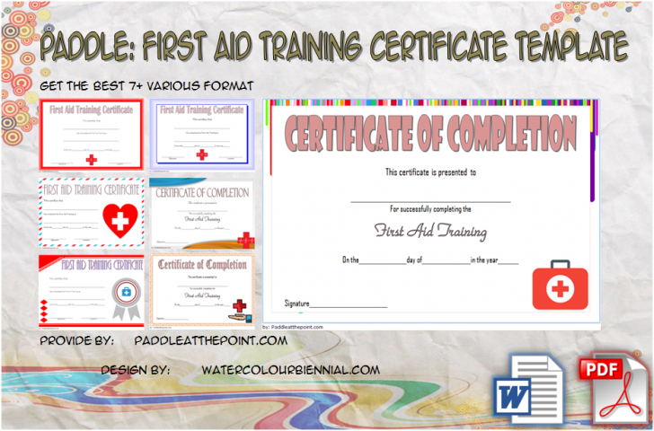Permalink to First Aid Certificate Template Free – 7+ Freshest Designs