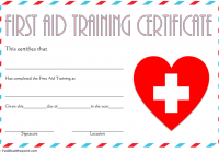 First Aid Training Certificate Template 3
