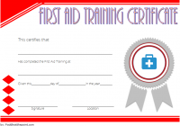 First Aid Training Certificate Template 4