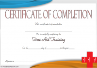 First Aid Training Certificate Template 5