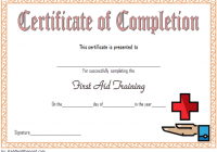First Aid Training Certificate Template 6